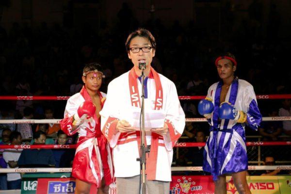 โทชิอากิ มาเอคาวะ กล่าวเปิดการแข่งขัน
