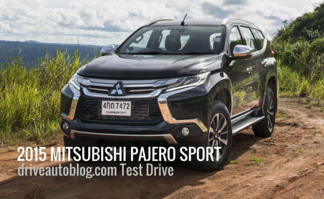 2015 Mitsubishi Pajero Sport Test ปก